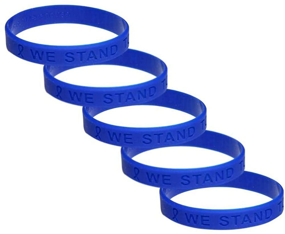 Colon Cancer Awareness Silicone Bracelet 5 Pack