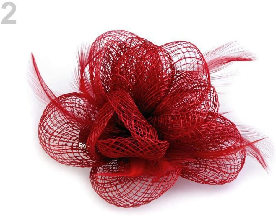 1pc Red Fascinator/Brooch Flower, Fascinators, Fashion Hats and, Accessories