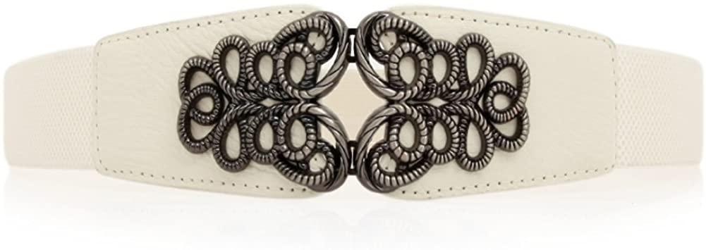 JIEJING Ladies Decoration Belt,Wild Stylish Belt Weave Stretch Belt Adjustable