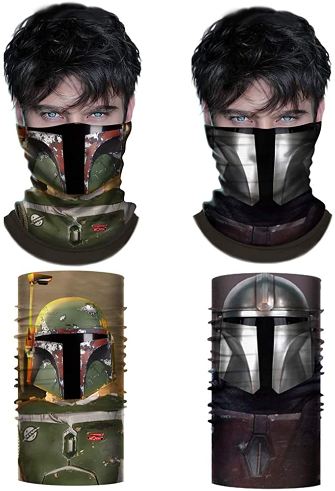 Superhero Bandana Face Scarf Neck Gaiter Face Shield Headband Cosplay Costume