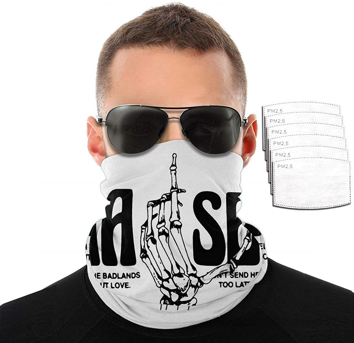 Halsey Scarf Bandanas Neck Gaiter With Safety Carbon Filters