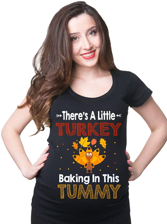 Maternity T-Shirt Funny Thanksgiving Day Pregnancy Tee Shirt