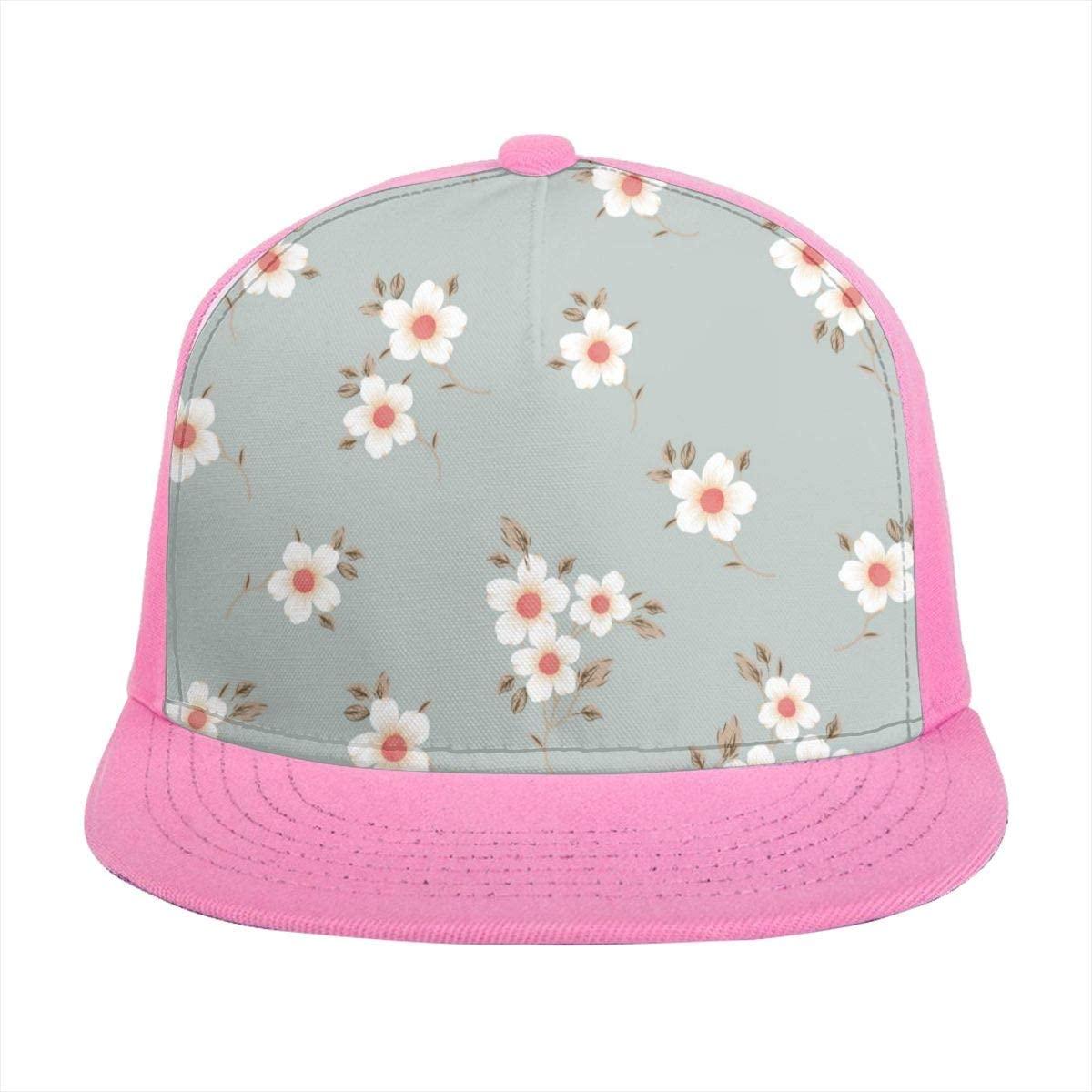 Sun Visor Hat Cute Pretty Flowers Chic Floral Baseball Cap Flat Brim Hat for Women Men Summer