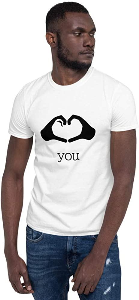 Love You Hand Gesture Inspiring and Motivational Short-Sleeve Unisex T-Shirt