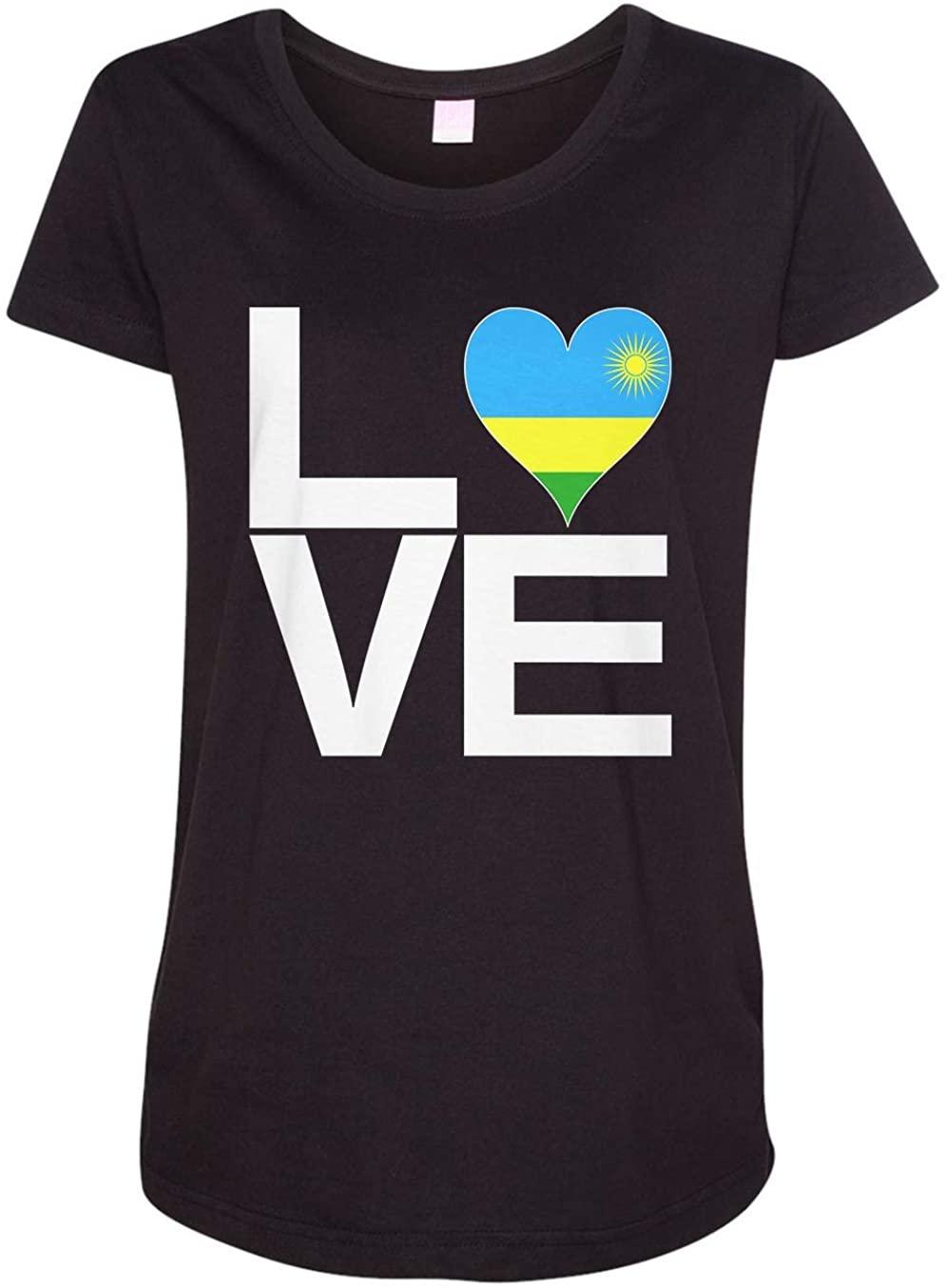 Tenacitee Ladies Love Block Rwanda Heart Maternity Shirt