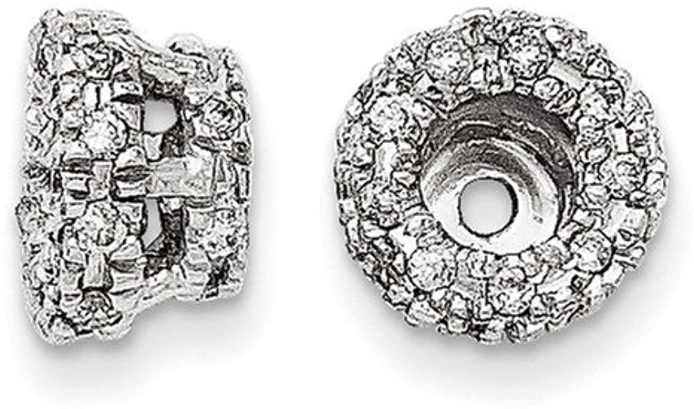 Beautiful White gold 14K 14K White Gold Diamond Earring Jacket