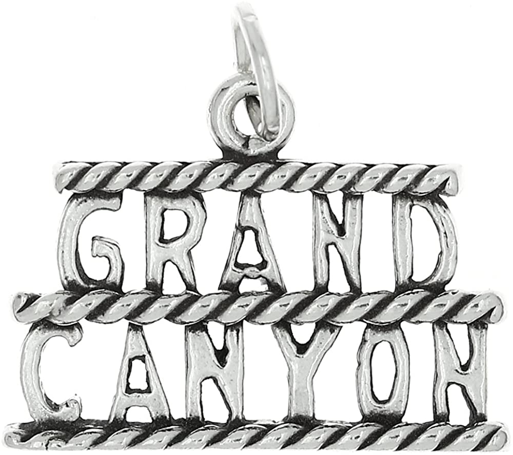 LGU Sterling Silver Oxidized One Sided Grand Canyon Charm