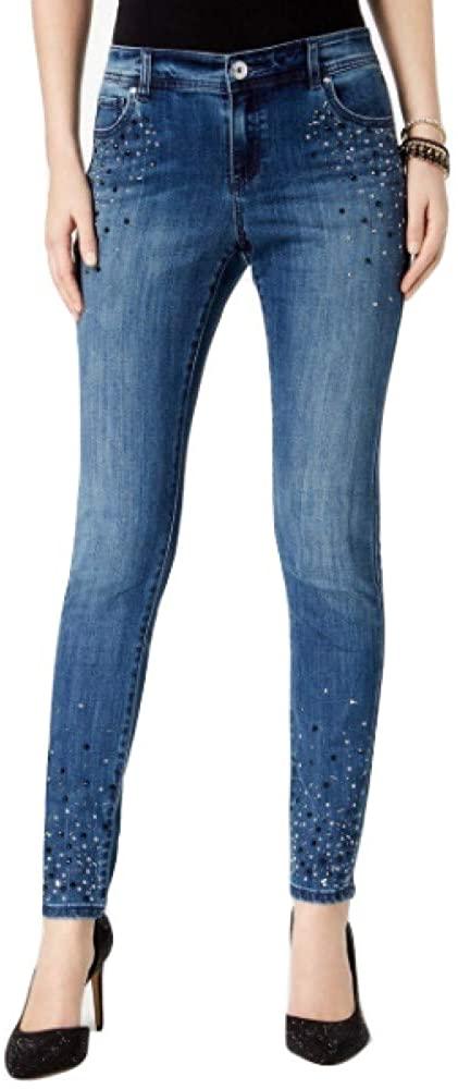 INC International Concepts I.N.C. Petite Embellished Skinny Jeans Beautiful WASH 14 Petite