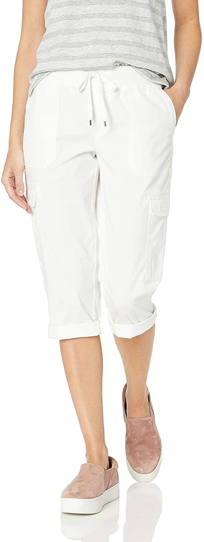 Chaps Womens Cotton Twill Capri Pant