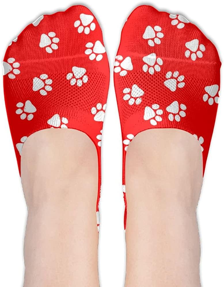 Paw-print-dog Womens Low Cut Socks No Show Liner Boot Sock Athletic Socks Thin Fit