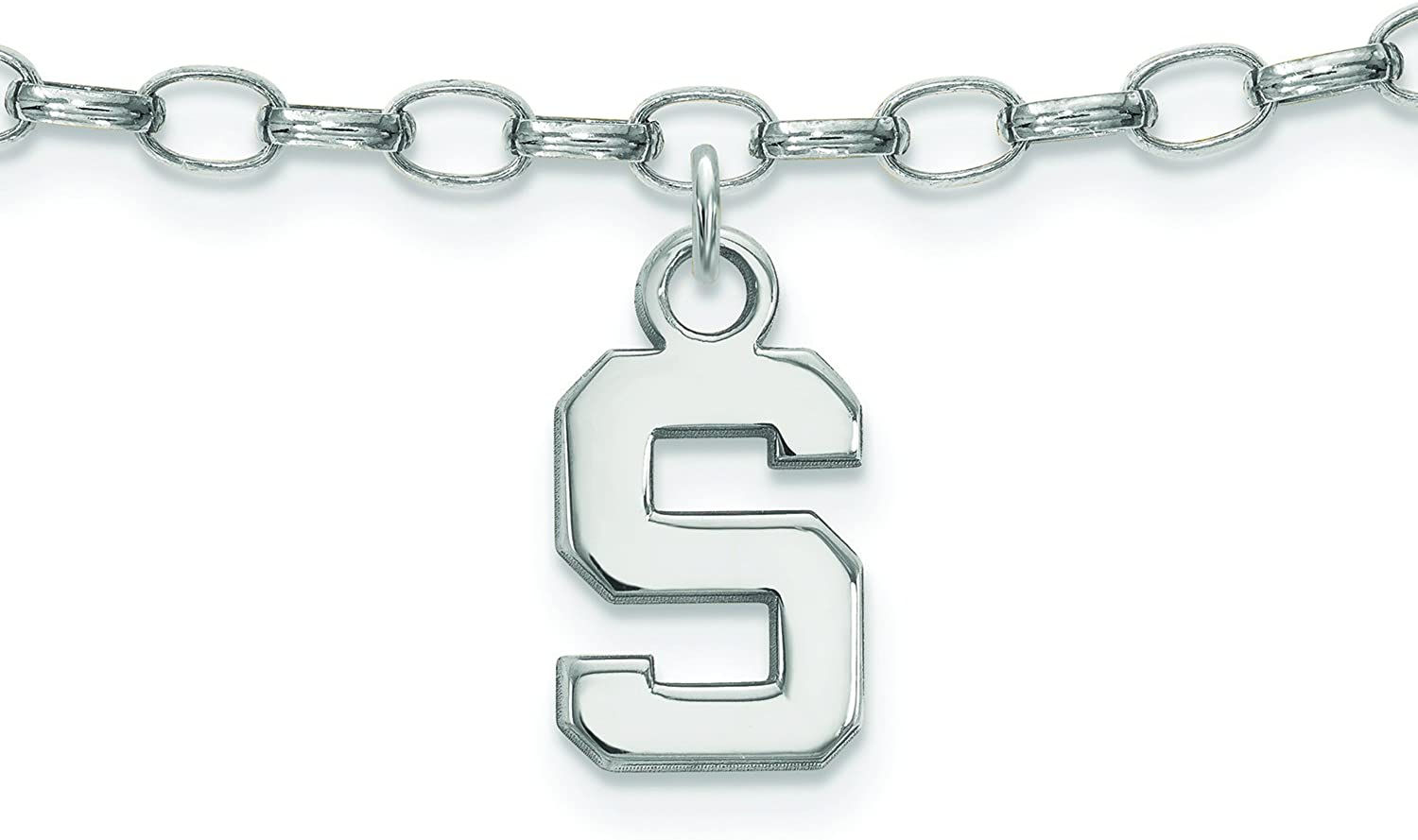 Michigan State Anklet (Sterling Silver)