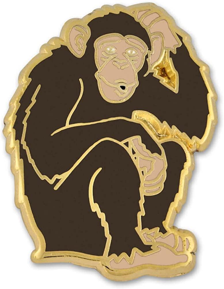 PinMart Wild Monkey Chimp Zoo Animal Enamel Lapel Pin