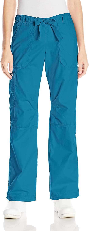 KOI Women's Lindsey Ultra Comfortable Cargo Style Scrub Pants, Ultramarine, X-Small