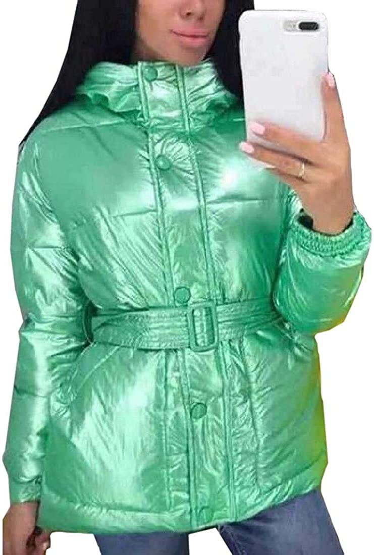 Jhsxydgy Women Packable Down Coat Winter Warm Hoodies Puffer Jacket Outwear