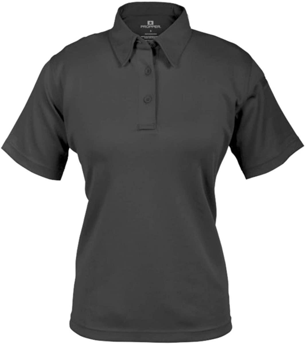 Propper F5327 Womens I.C.E. Short Sleeve Performance Polo Shirt, Charcoal