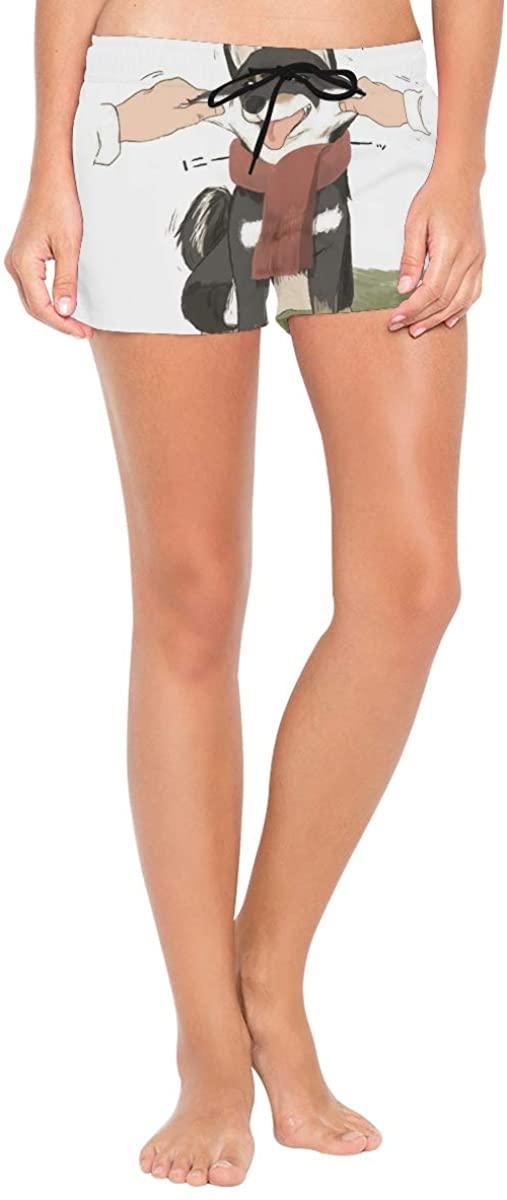 Double Joy Scarf Dog Summer Casual Beach Shorts for Women's