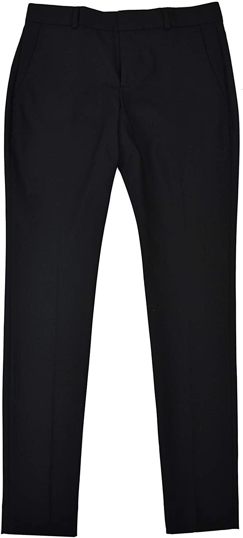 BANANA REPUBLIC Women's Ryan Slim Fit Classic Slim Straight Pants Black