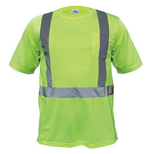 T-Shirt, Polyester, Lime, 4XL