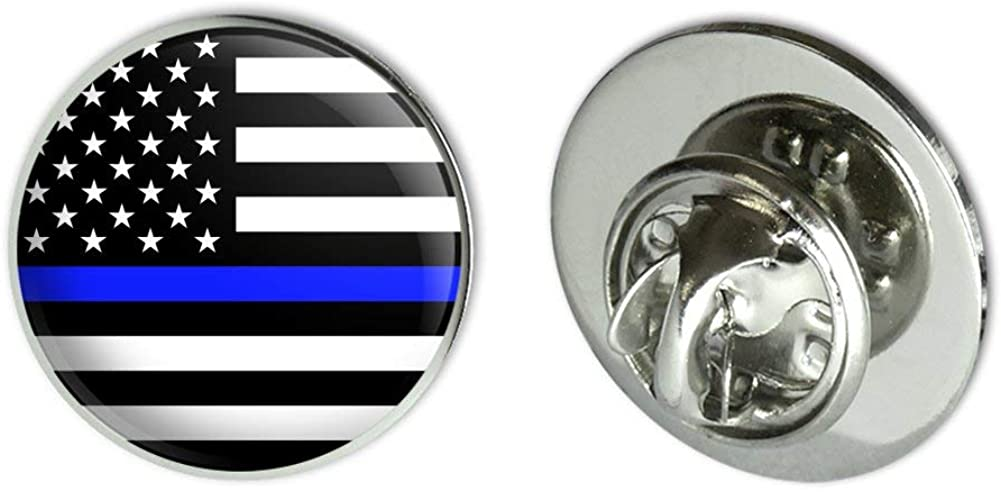 GRAPHICS & MORE Thin Blue Line American Flag Metal 0.75