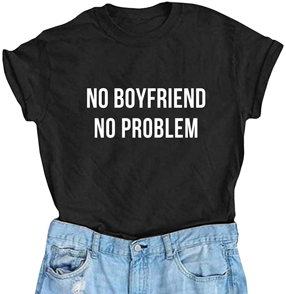 YITAN Women's Summer Printting Cotton Short Sleeve Tops Graphic Tees Fashion Cute Funny T Shirts