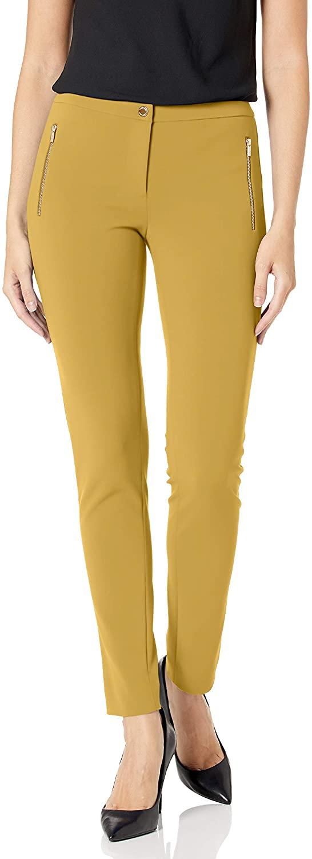 Calvin Klein Womens Straight Leg Zip Pocket Pant