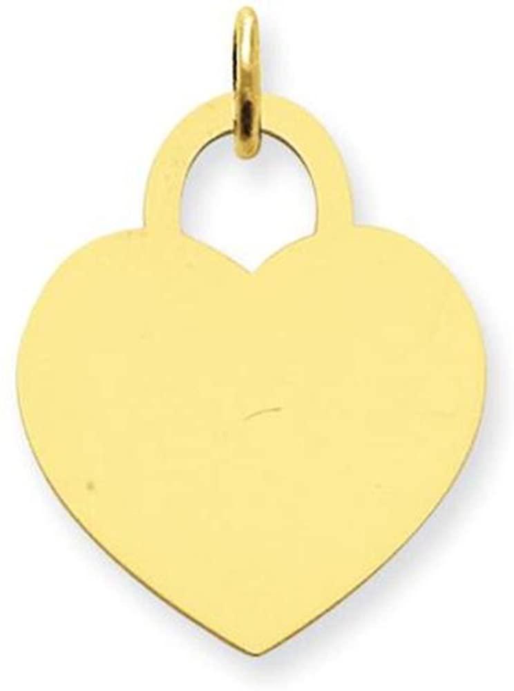 14K Gold Heart Charm 1.451 grams