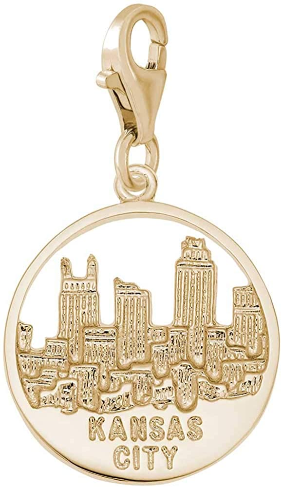 Rembrandt Charms Kansas City Skyline Charm with Lobster Clasp, 10K Yellow Gold