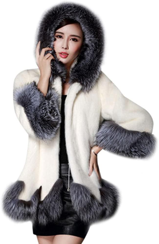 Liraly Womens Coats, Women Long Sleeve Parka Outwear Fox Fur Coat Jacket Cardigan Fashion Coats Winter