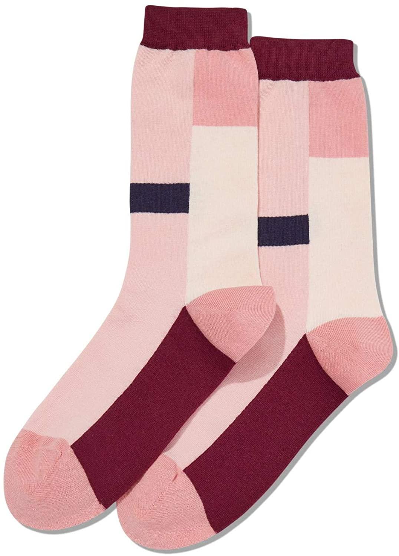 Hot Sox Womens Color Block Stripe Crew Socks
