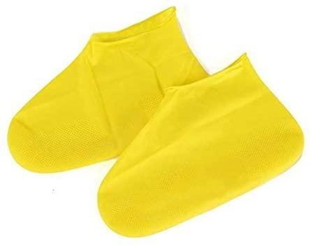 NOLOGO SXWL Waterproof Rain Shoe Covers Traveling Outdoor Portable Reusable Rubber Non-Slip Rain Boot Overshoes Unisex Shoes Accessories (Color : Yellow, Specification : L)