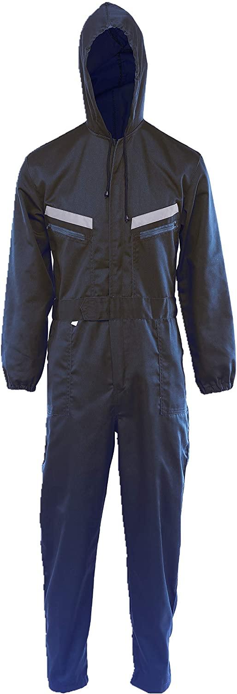 Bonrise Unisex Hoodies Work Coverall Visibility Long Sleeve Navy