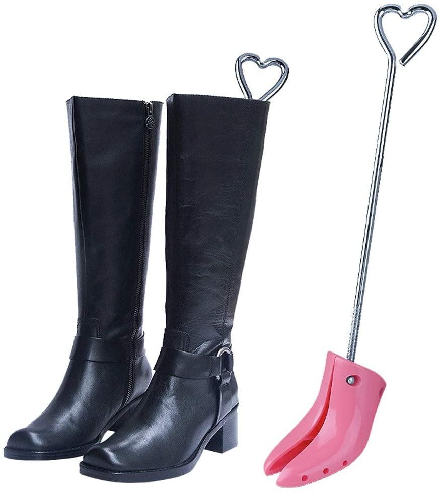 Xgxyklo Ladies Boot Stretchers, Two Way Shoe Shapers Adjustable Width Shoe Expander,Pink,2PCS