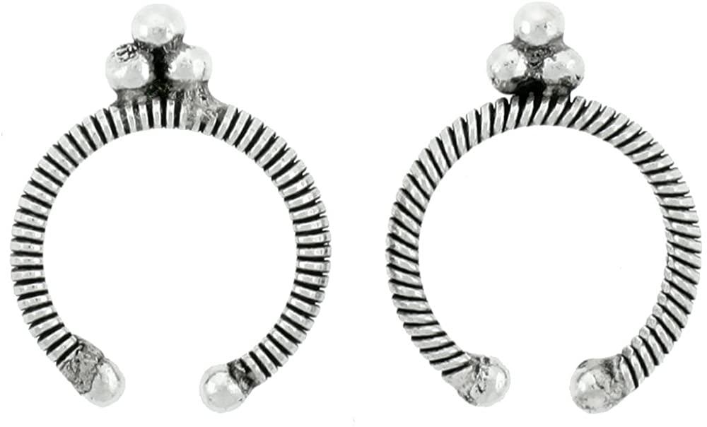 Sterling Silver Bali Design Ear Nose Cuffs 3/4 inch