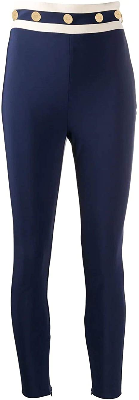 ELISABETTA FRANCHI Luxury Fashion Woman PA04601E2Y79 Blue Polyamide Leggings   Spring Summer 20