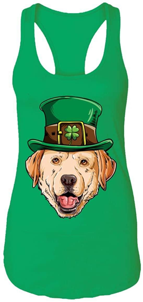 Labador St Patricks Day Leprechaun Dog Lover Gift Racerback Tank Top - St Patricks Day Gifts