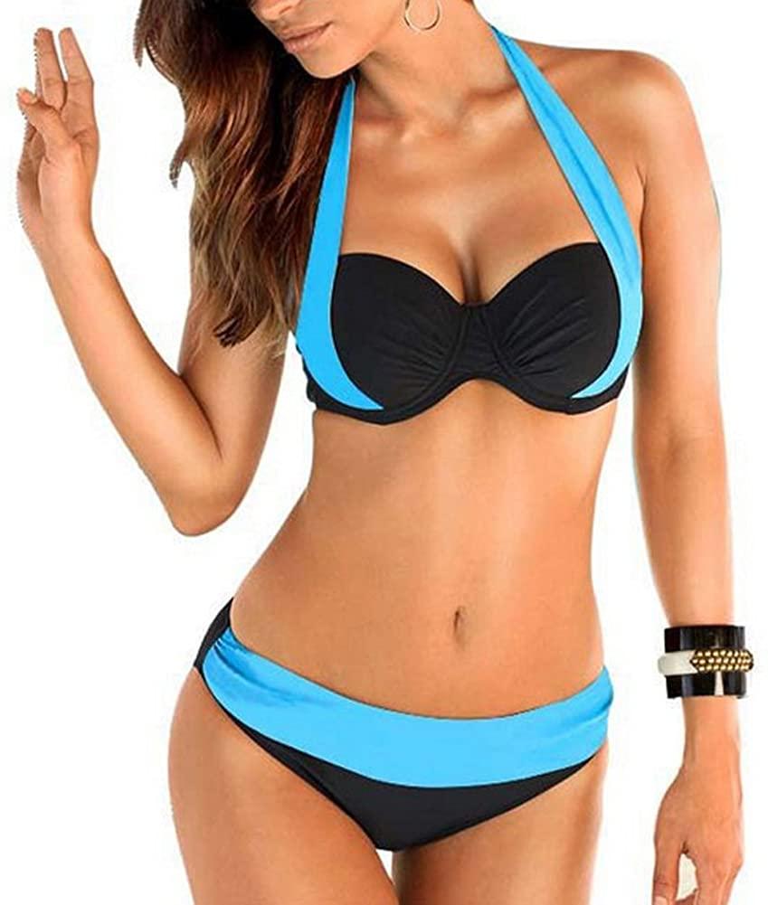 Walant Women Vintage Push up High Waisted Bikini Set Bathing Suits