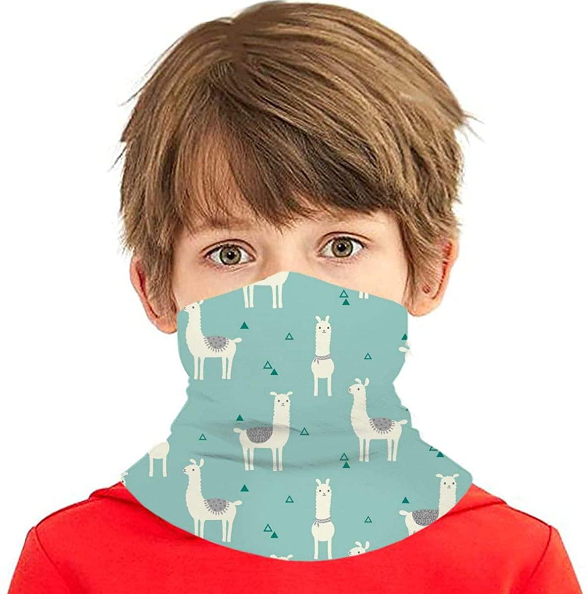 Youth Face Bandanas, Alpaca Reusable Face Mask Half Face Towel Mouth Cloth Facial Scarf Variety Headscarf