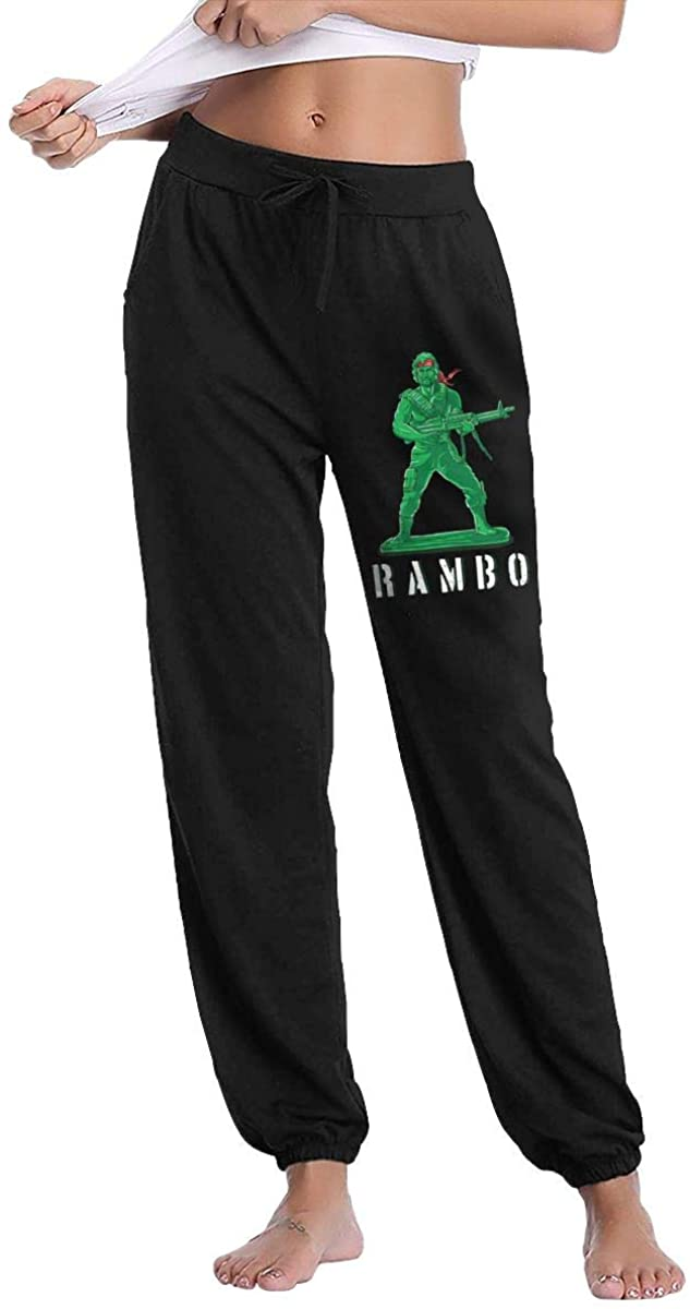 NOT John J. Rambo Art Woman's Slacks Sweatpants Comfort Sport Pants with Pockets