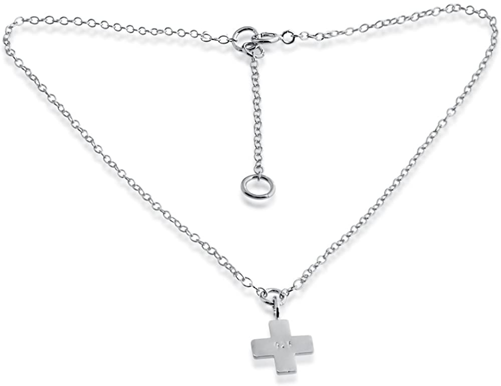 Azaggi Sterling Silver Handcrafted Greek Cross Pendant Charm (Sterling Silver)