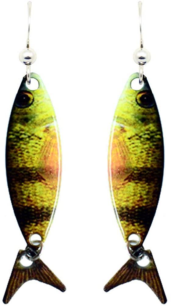 Perch Earrings by d'ears Non-Tarnish Sterling Silver French Hook Ear Wire