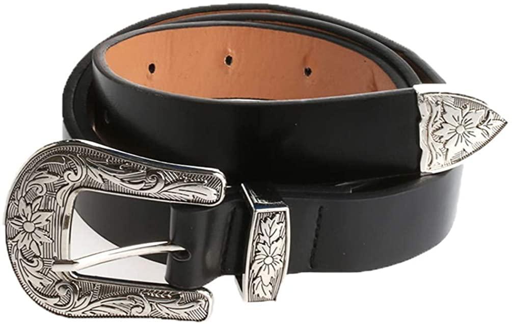 Women Lady Vintage Punk Waistband Waist Belt Double Buckle Accessory