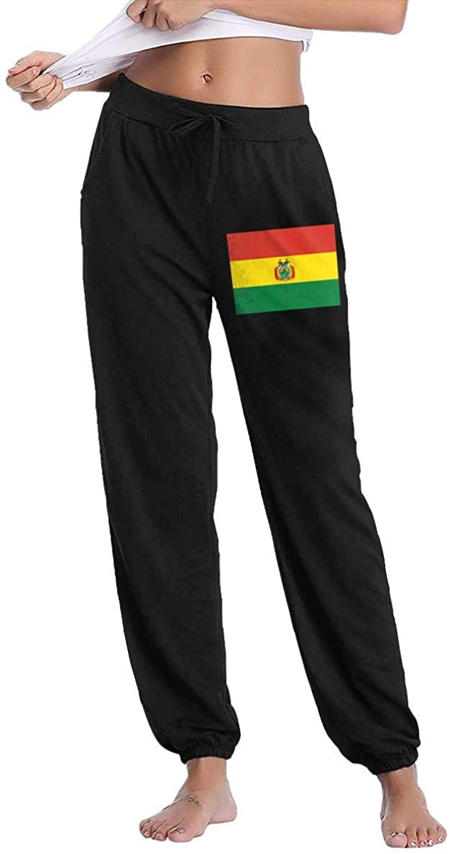 Women's Casual Sweatpants Flag of Bolivia Fitness Training Jogger Pants