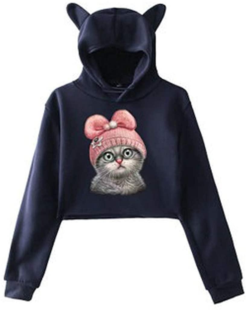 Pullover Hoodie Women Crop Hemissy Women's Drawstring Long Sleeve Tie Dye Crop Hoodie Top Fashion Sweatshirt
