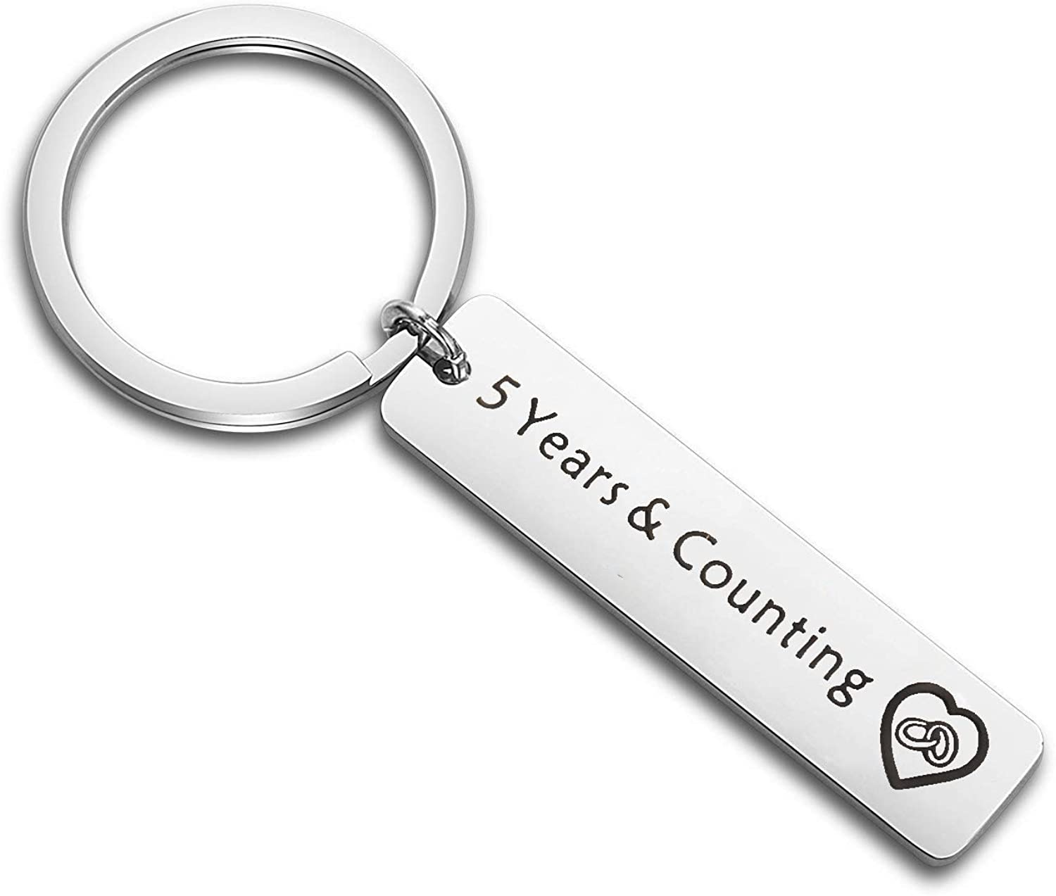 SEIRAA 10 Year & Counting Keychain 10th Wedding for Wife Couple Keychain for Boyfriend