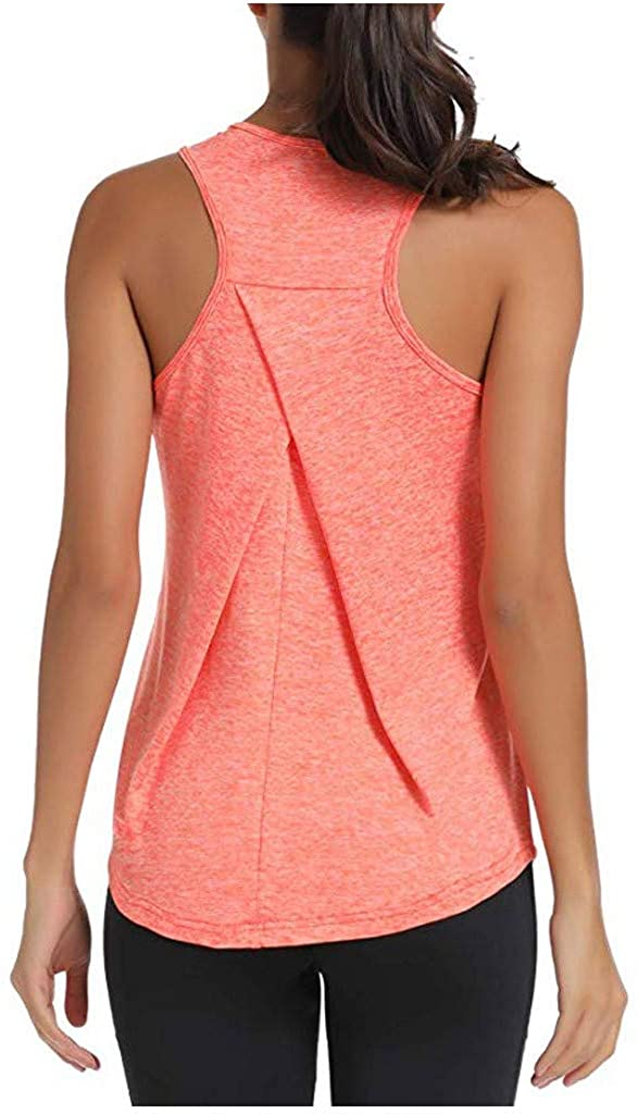 Keepmove Womens Sexy Solid Mesh Breathable Sleeveless Off Shoulder Vest Shirt Blouse Tops