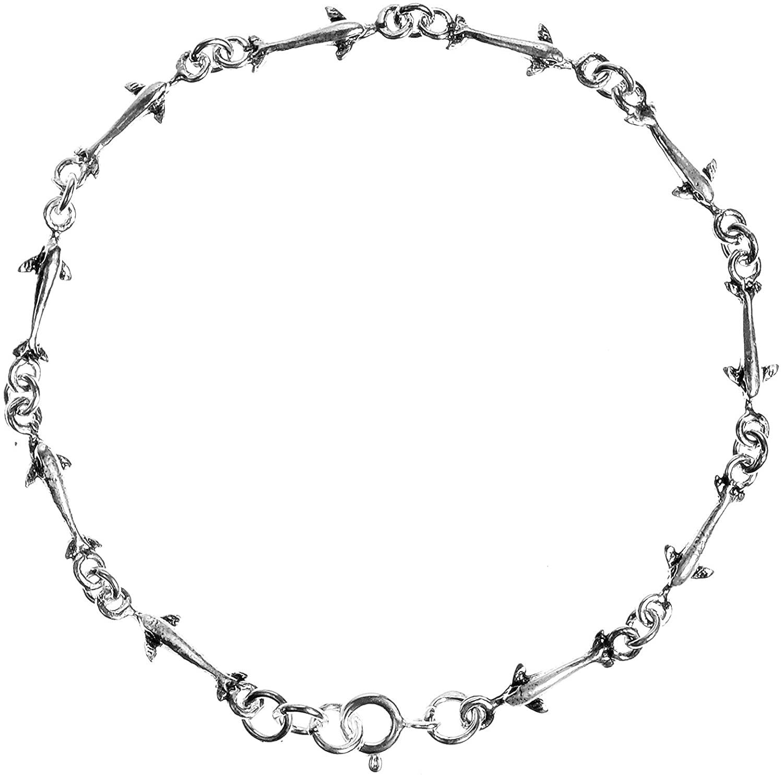 Serene Swimming Dolphin .925 Sterling Silver Link Bracelet