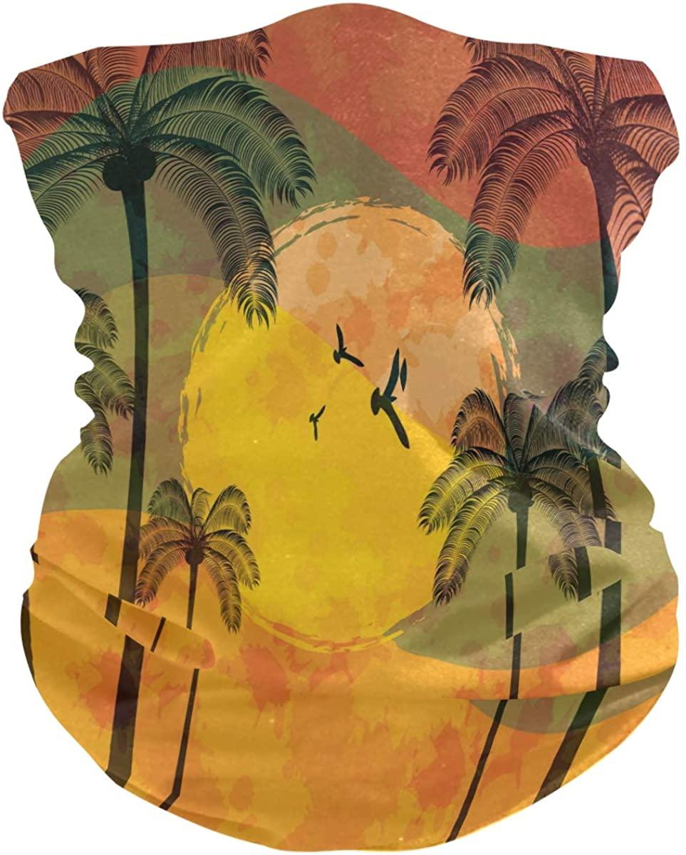 Bandana Face Mask, Neck Gaiter, Summer Tropical Headband Sport Face Cover, Headwear for Women Men