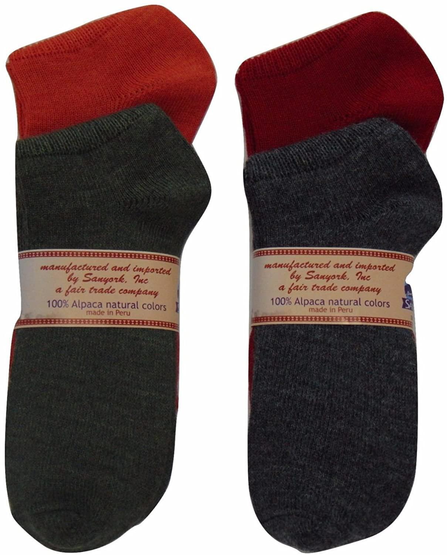 3315 Assorted Women Socks Small Warm Light 100% Alpaca 4 Pair Lot Fair Trade Mix