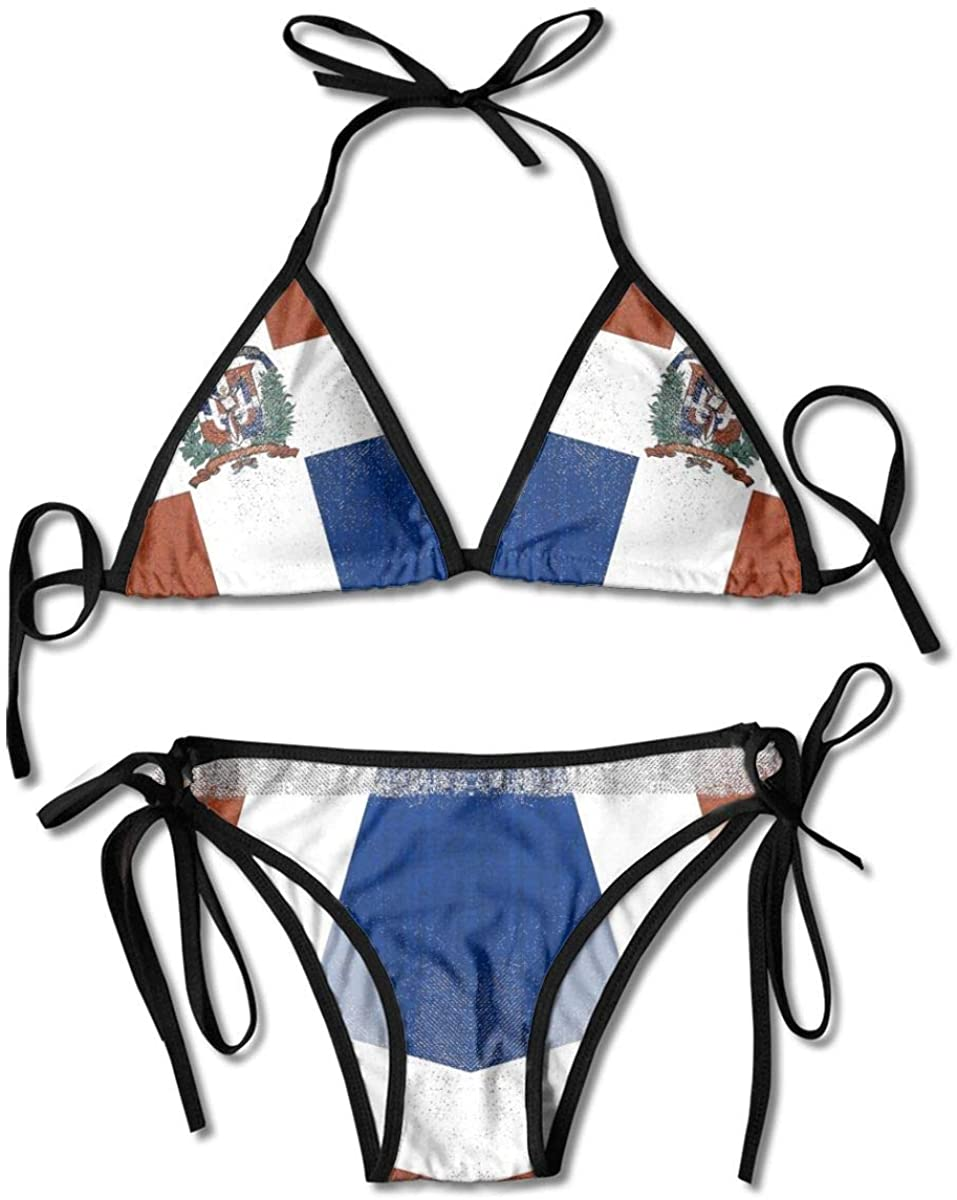 seaEagle New Mexico USA Flag Women Triangle Bikini Two Pieces Swimsuits Beach Swimwear