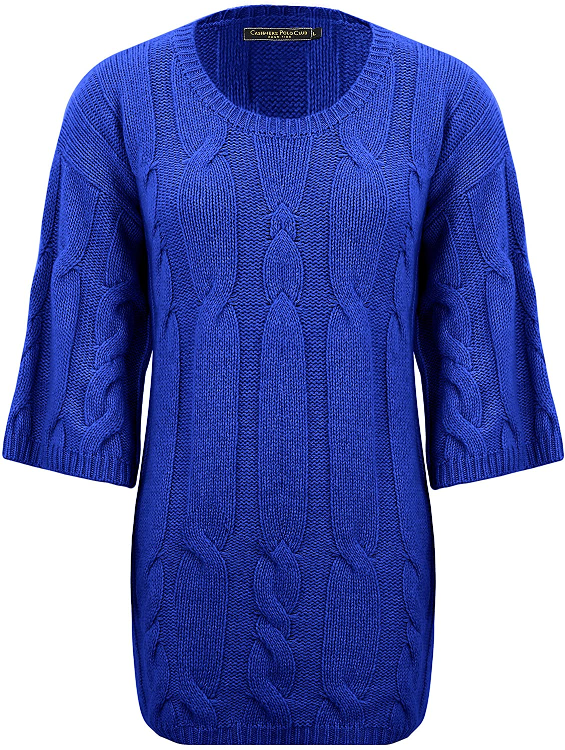 Cashmere Polo Club - Ivy-R - Ladies Round Half Sleeves Pullover